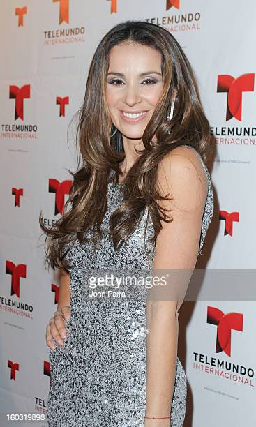 Catherine Siachoque attends Telemundo International NATPE VIP Party at Bamboo Miami on January 28 2013 in Miami Florida