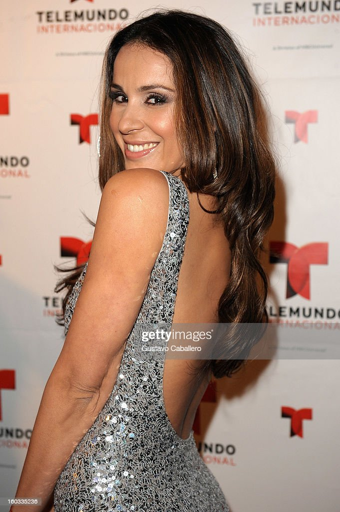 Catherine Siachoque attends Telemundo International NATPE VIP Party at Bamboo Miami on January 28, 2013 in Miami, Florida.