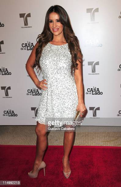 Catherine Siachoque attends Telemundo La Casa de al Lado VIP Premiere at Mandarin Oriental on May 31 2011 in Miami Florida