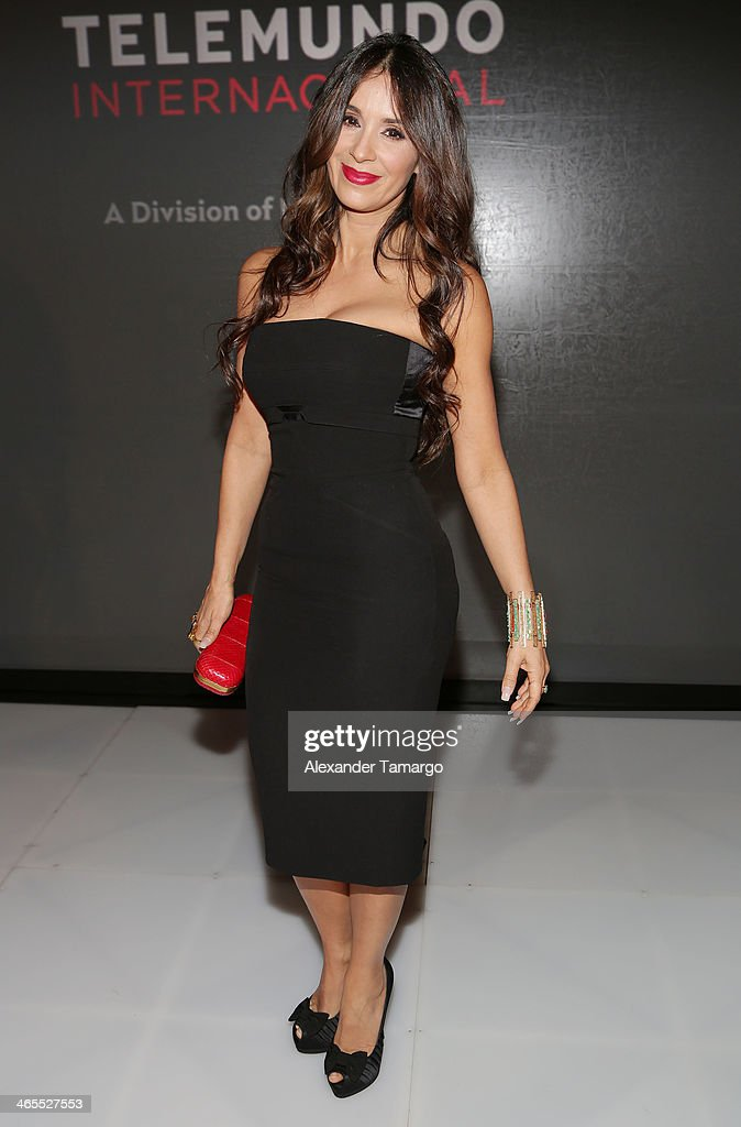 <a gi-track='captionPersonalityLinkClicked' href=/galleries/search?phrase=Catherine+Siachoque&family=editorial&specificpeople=889171 ng-click='$event.stopPropagation()'>Catherine Siachoque</a> attends Telemundo Luncheon to launch 'Camelia Le Texana' during NATPE at Eden Roc Hotel on January 27, 2014 in Miami Beach, Florida.