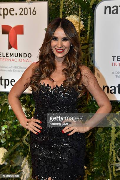 Catherine Siachoque attends Telemundo NATPE party on January 19 2016 in Miami Beach Florida