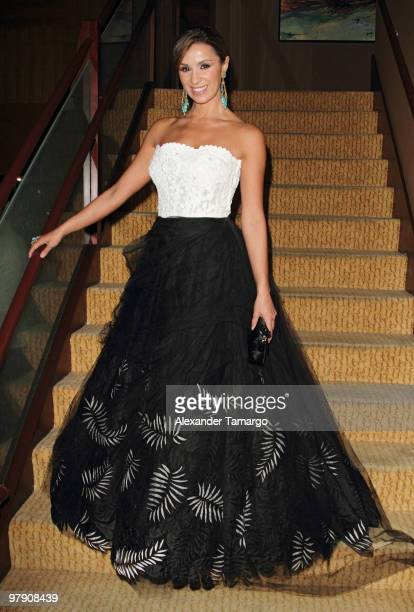 Catherine Siachoque attends Telemundo's annual gala for the Women of Tomorrow Mentor Scholarship Program at Mandarin Oriental on March 20 2010 in...