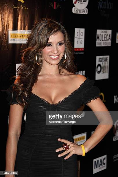 Catherine Siachoque attends the Yellow Nights event to benefit the Lance Armstrong Foundation on December 16 2009 in Miami Florida