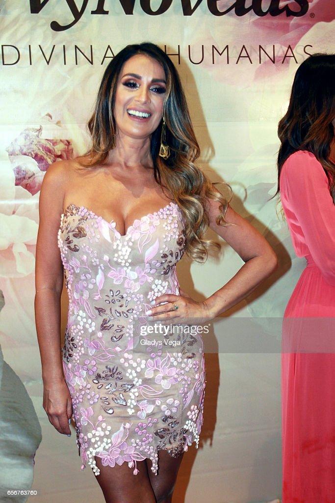 Catherine Siachoque poses as part of TV y Novelas, 'Divinas y Humanas' special edition celebration on March 22, 2017 in San Juan, Puerto Rico.