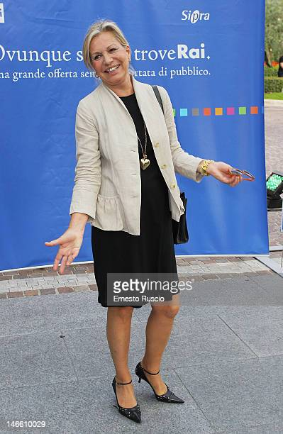 Catherine Spaak attends the Palinsesti Rai photocall at Cavalieri Hilton Hotel on June 20 2012 in Rome Italy