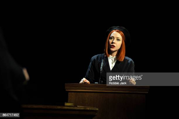 Catherine Steadman as Romaine in a production of Agatha Christie's Witness for the Prosecution directed by Lucy Bailey at London County Hall on...