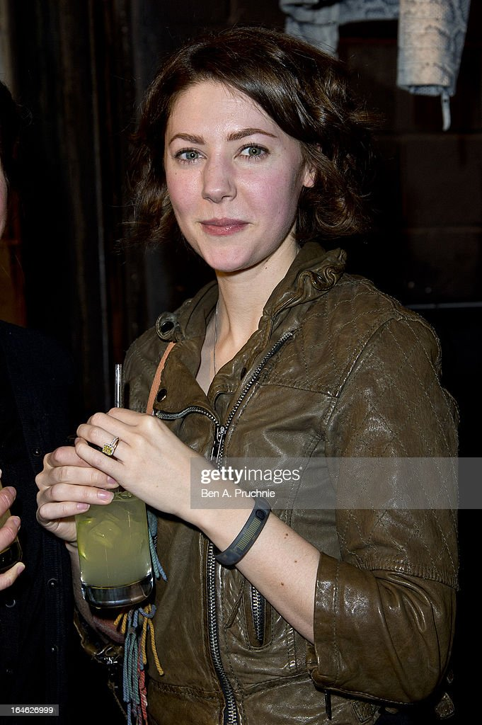 Catherine Steadman attends AllSaints Biker Project - Series One at All Saints on March 25, 2013 in London, England.
