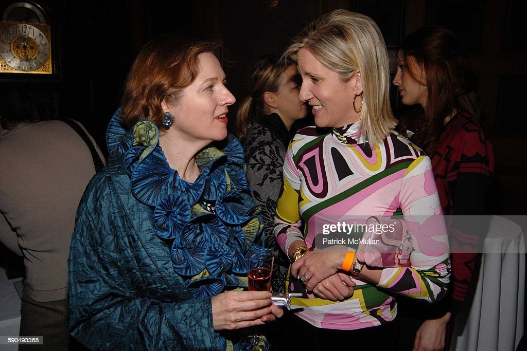 Catherine Sweeney Singer and Karen Kemp Glover attend The 51st Annual Winter Antiques Show Young Collector's Night at The Seventh Regiment Armory on...