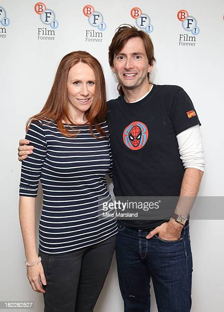 Catherine Tate and David Tennant poses as the BFI celebrates 50 years of Doctor Who with special screenings of 'Doctor Who The Stolen Earth' and...