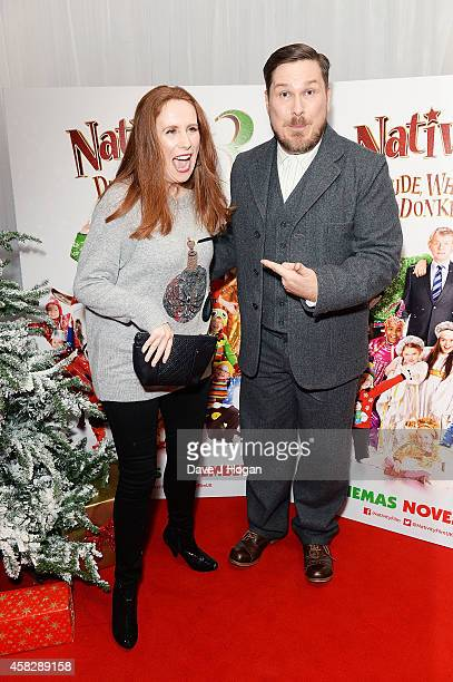 Catherine Tate and Marc Wootton attend the UK Premiere of 'Nativity 3 Dude Where's My Donkey' at Vue West End on November 2 2014 in London England