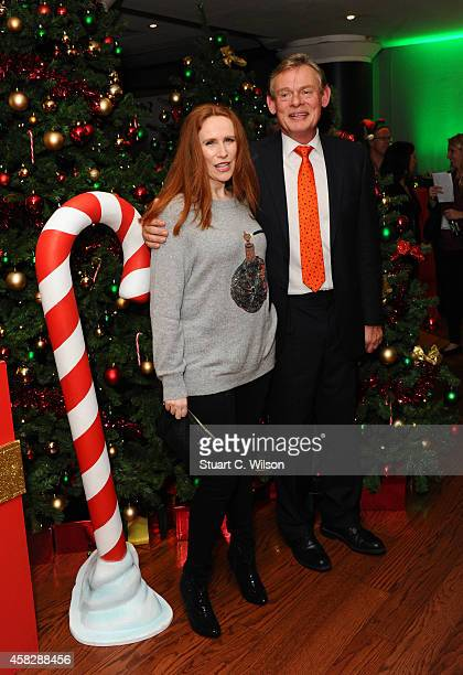 Catherine Tate and Martin Clunes attend the UK Premiere of 'Nativity 3 Dude Where's My Donkey' at Vue West End on November 2 2014 in London England