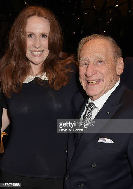 Catherine Tate and Mel Brooks attend the Mel Brooks BFI Fellowship Dinner at The May Fair Hotel on March 20 2015 in London England