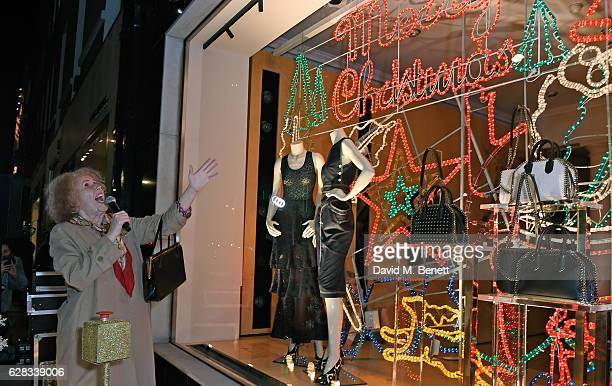 Catherine Tate attends the Stella McCartney Christmas Lights switch on at the Stella McCartney Bruton Street Store on December 7 2016 in London...