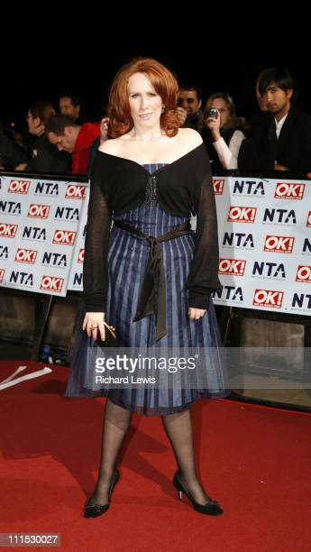 Catherine Tate during 12th Anniversary National Television Awards Arrivals at Royal Albert Hall in London Great Britain
