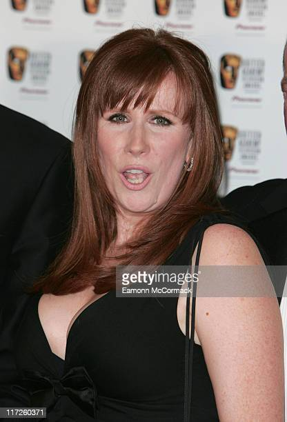 Catherine Tate during 2007 British Academy Television Awards Press Room at London Palladium in London Great Britain