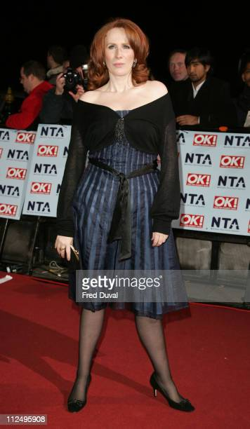 Catherine Tate during National Television Awards 2006 Red Carpet at Royal Albert Hall in London Great Britain