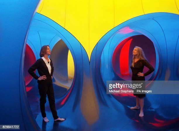 Catherine Turner and Rachel Clare explore the Luminarium IV experience on the roof of the Queen Elizabeth Hall in London today The colourful walkin...