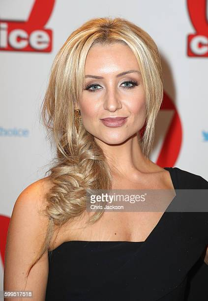 Catherine Tyldesley arrives for the TV Choice Awards at The Dorchester on September 5 2016 in London England