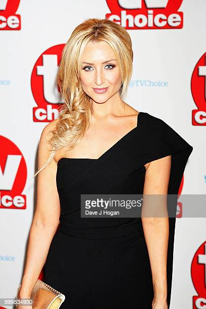 Catherine Tyldesley arrives for the TVChoice Awards at The Dorchester on September 5 2016 in London England