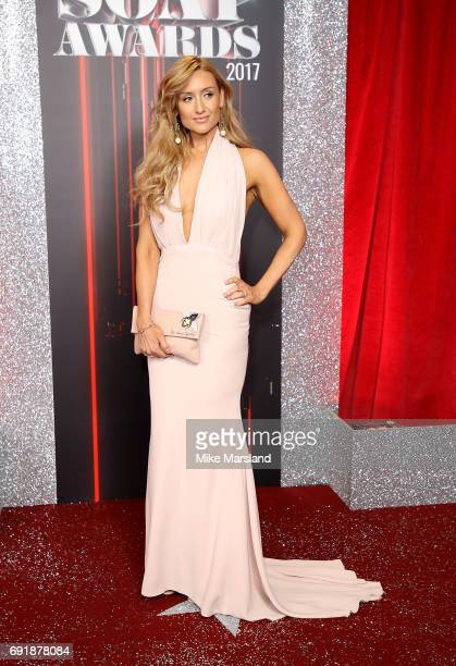 Catherine Tyldesley attends The British Soap Awards at The Lowry Theatre on June 3 2017 in Manchester England The Soap Awards will be aired on June 6...