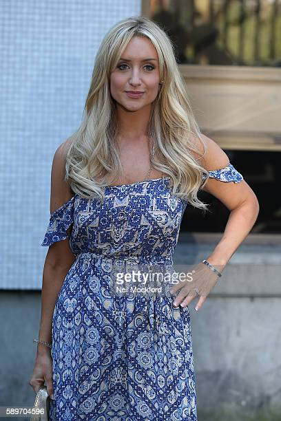 Catherine Tyldesley seen at the ITV Studios after appearing on Loose Women on August 15 2016 in London England