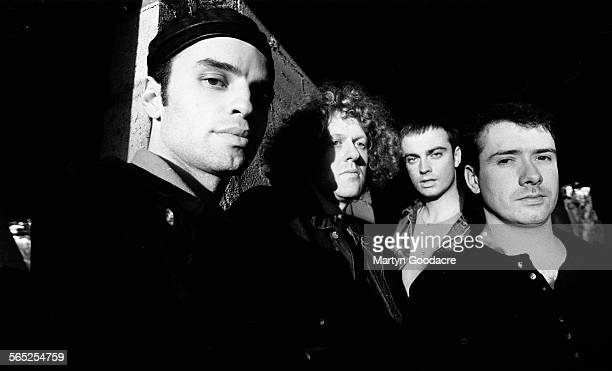 Catherine Wheel group portrait United Kingdom 1990 Line up includes Dave Hawes Brian Futter Neil Sims and Rob Dickinson