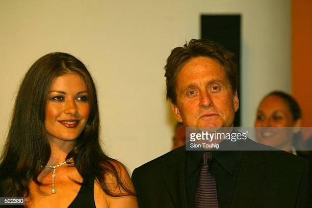 Catherine Zeta Jones and Michael Douglas at the Laureus Sport for Good Foundation Dinner at the Salles des Etoiles in the Sporting Club in Monte...