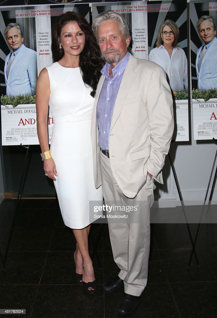 <a gi-track='captionPersonalityLinkClicked' href=/galleries/search?phrase=Catherine+Zeta+Jones&family=editorial&specificpeople=167111 ng-click='$event.stopPropagation()'>Catherine Zeta Jones</a> and <a gi-track='captionPersonalityLinkClicked' href=/galleries/search?phrase=Michael+Douglas&family=editorial&specificpeople=171111 ng-click='$event.stopPropagation()'>Michael Douglas</a> attend the 'And So It Goes' premiere at Guild Hall on July 6, 2014 in East Hampton, New York.