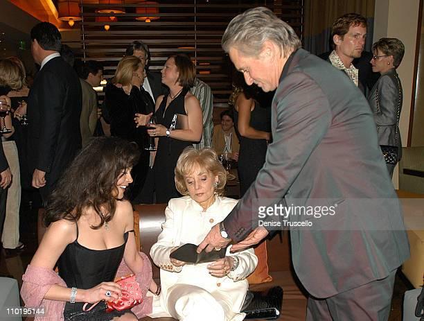 Catherine Zeta Jones Barbara Walters and Michael Douglas