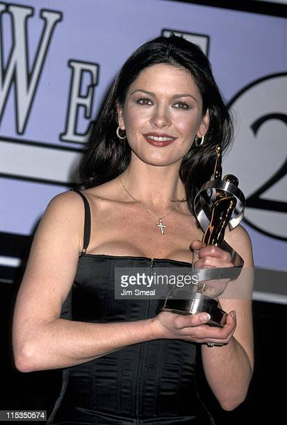 Catherine Zeta Jones during 1999 ShoWest Awards Ceremony at Bally's Hotel and Casino in Las Vegas Nevada United States