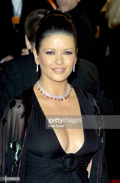 Catherine Zeta Jones during 2003 BAFTA Awards Arrivals at Leicester Square in London Great Britain