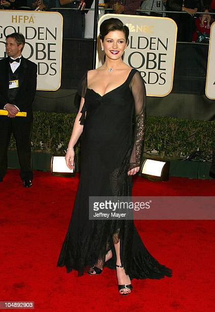 Catherine Zeta Jones during The 60th Annual Golden Globe Awards Arrivals at The Beverly Hilton Hotel in Beverly Hills California United States