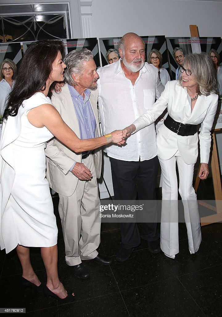 <a gi-track='captionPersonalityLinkClicked' href=/galleries/search?phrase=Catherine+Zeta+Jones&family=editorial&specificpeople=167111 ng-click='$event.stopPropagation()'>Catherine Zeta Jones</a>, <a gi-track='captionPersonalityLinkClicked' href=/galleries/search?phrase=Michael+Douglas&family=editorial&specificpeople=171111 ng-click='$event.stopPropagation()'>Michael Douglas</a>, <a gi-track='captionPersonalityLinkClicked' href=/galleries/search?phrase=Rob+Reiner&family=editorial&specificpeople=208749 ng-click='$event.stopPropagation()'>Rob Reiner</a>, and <a gi-track='captionPersonalityLinkClicked' href=/galleries/search?phrase=Diane+Keaton&family=editorial&specificpeople=201554 ng-click='$event.stopPropagation()'>Diane Keaton</a> attend the 'And So It Goes' premiere at Guild Hall on July 6, 2014 in East Hampton, New York.