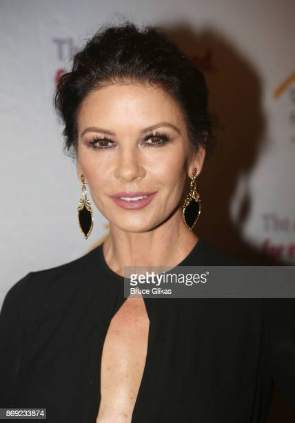 Catherine Zeta Jones poses at The Actors Fund of America's 'Career Transition for Dancers Jubilee Gala' at The Marriott Marquis Hotel on November 1...