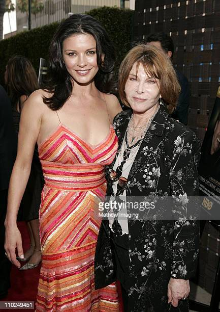Catherine ZetaJones and Lee Grant during HBO's 'A FatherA SonOnce Upon a Time in Hollywood' Los Angeles Premiere Red Carpet and Reception at Academy...