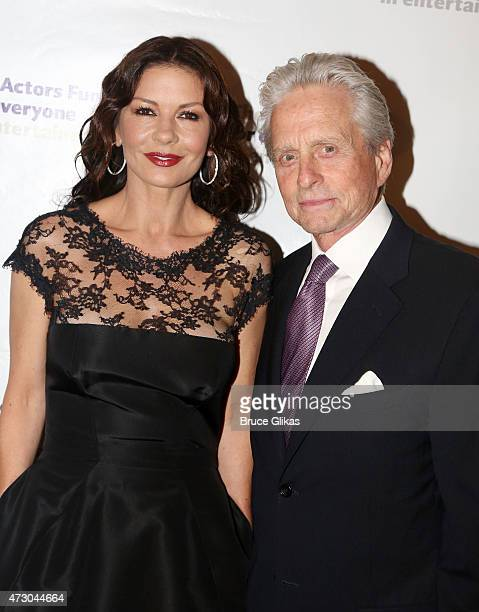 Catherine ZetaJones and Michael Douglas attend The 2015 Actors Fund Gala at The New York Marriott Marquis on May 11 2015 in New York City