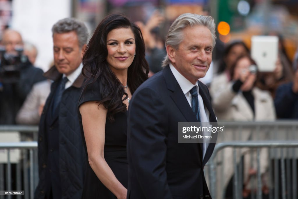 Catherine Zeta-Jones and Michael Douglas attends the 40th Anniversary Chaplin Award Gala at Avery Fisher Hall at Lincoln Center for the Performing Arts on April 22, 2013 in New York City.