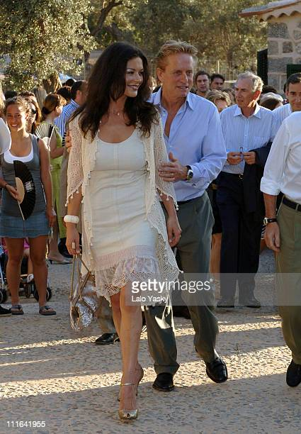Catherine ZetaJones and Michael Douglas during Catherine ZetaJones and Michael Douglas Attend the Opening of the Robert Graves House and Museum July...