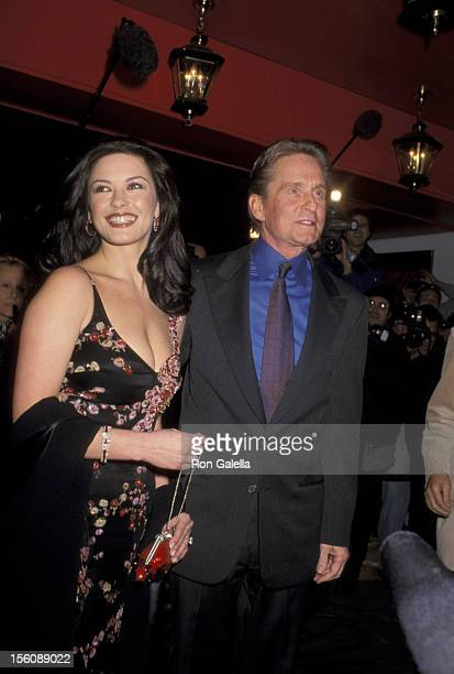Catherine ZetaJones and Michael Douglas during Wedding Rehearsal Dinner for Catherine Zeta Jones and Michael Douglas at Russian Tea Room in New York...