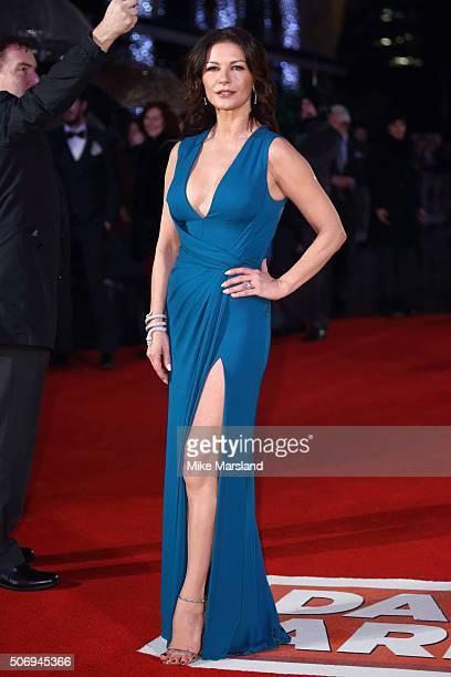 Catherine ZetaJones attends 'Dad's Army' World Premiere on January 26 2016 in London United Kingdom