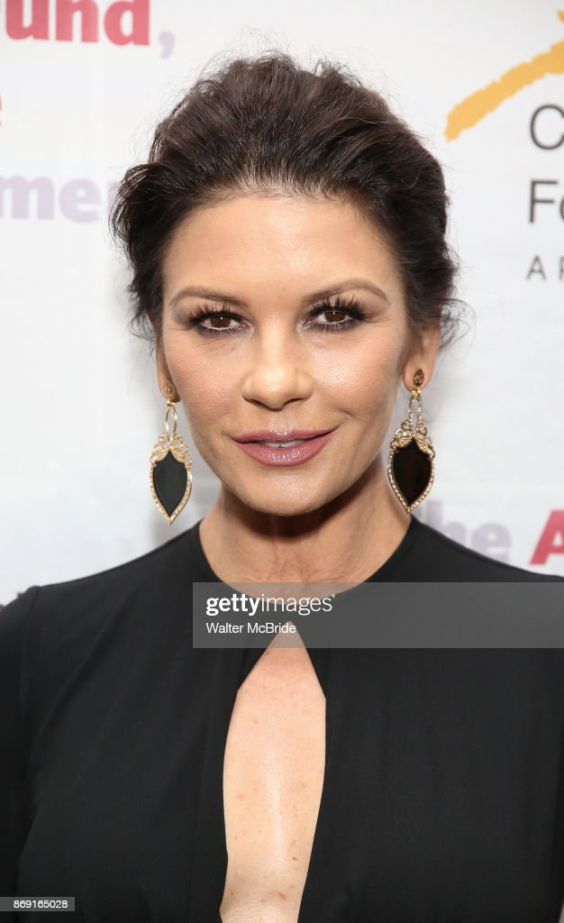 Catherine Zeta-Jones attends the Actors Fund Career Transition For Dancers Gala on November 1, 2017 at The Marriott Marquis in New York City.