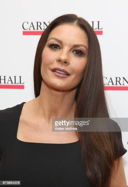 Catherine ZetaJones attends The Children's Monologues at Carnegie Hall on November 13 2017 in New York City