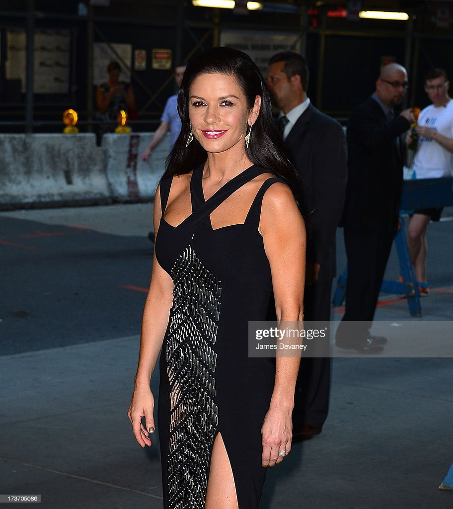 Catherine Zeta-Jones attends The Cinema Society & Bally screening of Summit Entertainment's 'Red 2' at the Museum of Modern Art on July 16, 2013 in New York City.