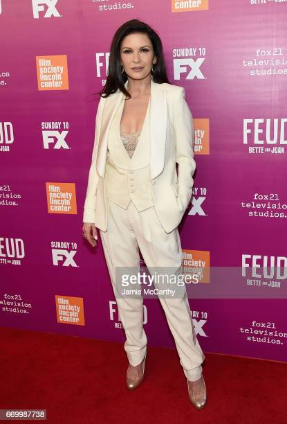 Catherine ZetaJones attends the 'Feud Bette And Joan' NYC Event at Alice Tully Hall at Lincoln Center on April 18 2017 in New York City