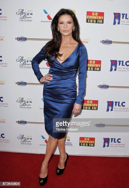 Catherine ZetaJones attends the Los Angeles Mission Legacy of Vision Gala at Four Seasons Hotel Los Angeles at Beverly Hills on November 9 2017 in...