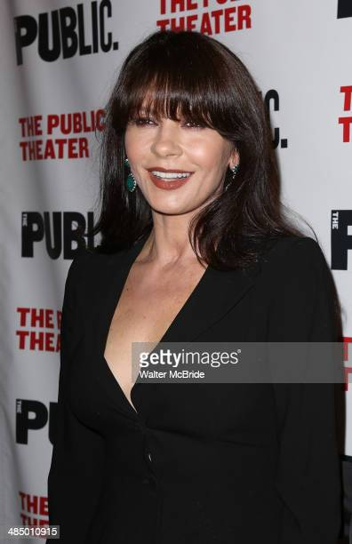 Catherine ZetaJones attends the Opening Night Performance of 'The Library' at The Public Theater on April 15 2014 in New York City