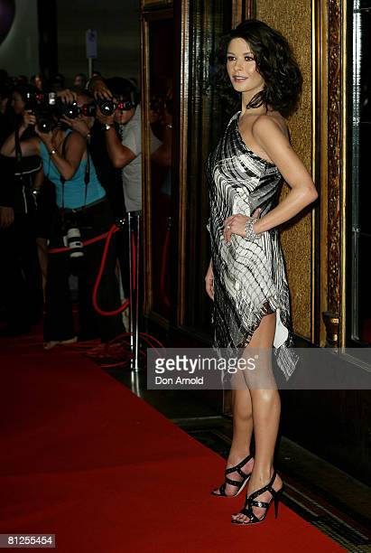 Catherine ZetaJones attends the premiere of 'Death Defying Acts' at the State Theatre on March 10 2008 in Sydney Australia