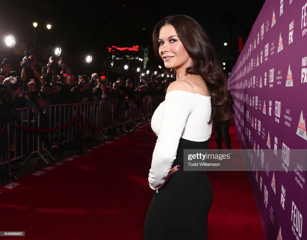 Catherine Zeta-Jones attends the premiere of FX Network's 'Feud: Bette And Joan'at Grauman's Chinese Theatre on March 1, 2017 in Hollywood, California.