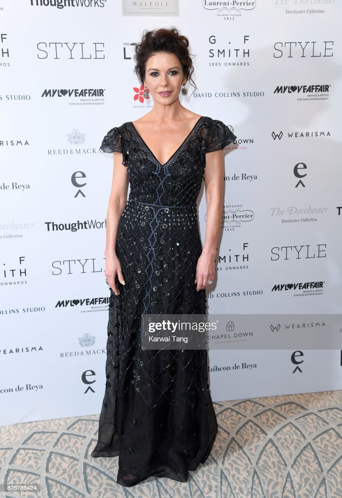 Catherine Zeta-Jones attends the Walpole British Luxury Awards at The Dorchester on November 20, 2017 in London, England.