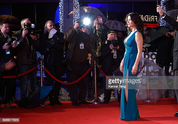 Catherine ZetaJones attends the World Premiere of 'Dad's Army' at Odeon Leicester Square on January 26 2016 in London United Kingdom